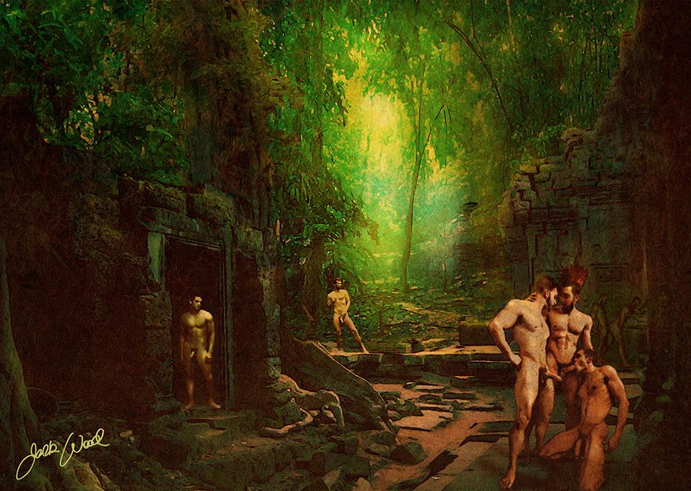 gay erotic art print